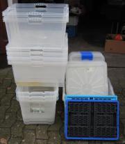 10 transparente Plastikboxen