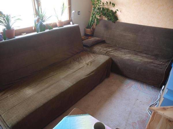 2 Sofa Beddinge von IKEA in braun zu verschenken in Altbach ...