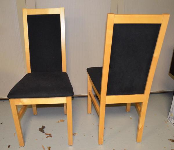 2 st hle birke massiv schwarzes polster sehr guter. Black Bedroom Furniture Sets. Home Design Ideas