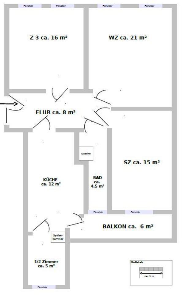 3 5 zimmer mit balkon in gohlis mitte 417eur in leipzig for 3 zimmer wohnungen lubeck