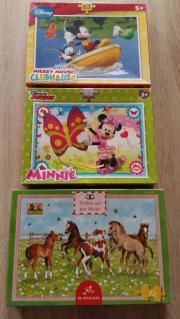 3 Kinderpuzzles zusammen