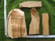 4 Stück Mandelholz