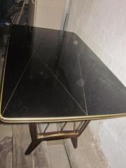 50erJahre Glastisch höhenverstellbar