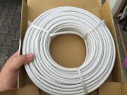 50m Koaxialkabel Innenleiter, Sat-Kabel, 75Ohm, weiß, Digitaltauglich, 90dB, NEU gebraucht kaufen  Speyer