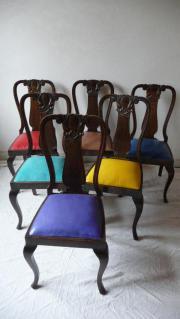 6 Esszimmerstühle, Massivholz,