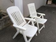 6 Gartenstühle zu