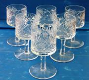 6 Kristallgläser Böhmen