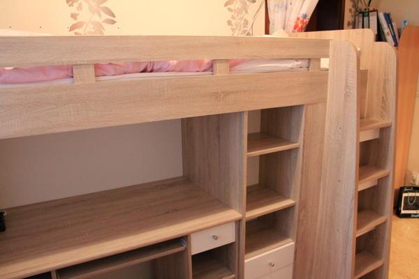 hochbett schreibtisch kleiderschrank bett kinderzimmer eiche sonoma weiss n rnberg kinder. Black Bedroom Furniture Sets. Home Design Ideas