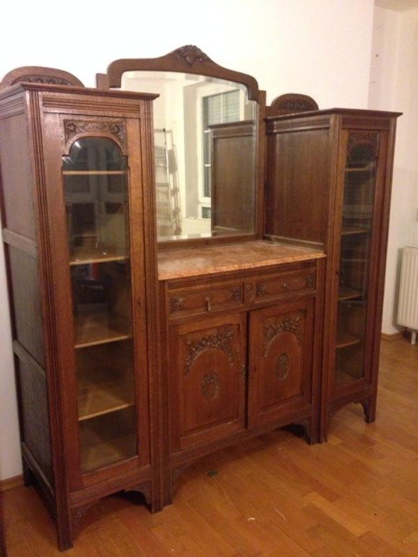 antike spiegelkommode mit glasvitrine in burgthann sonstige antiquit ten kaufen und verkaufen. Black Bedroom Furniture Sets. Home Design Ideas