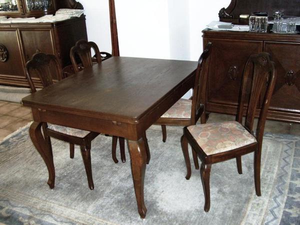 Antiker Esstisch Jugendstil ~ Antiker JugendstilEsstisch und vier Stühle von 1910 in Essen  Speisezimmer