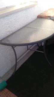 Balkon-Tisch halbrund