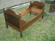 Bett -Antik Holzbett,