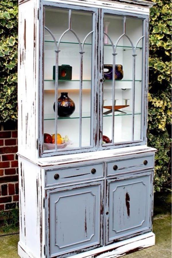 buffet schrank vitrine k chenbuffet anrichte k chenschrank shabby chic in emsdetten. Black Bedroom Furniture Sets. Home Design Ideas