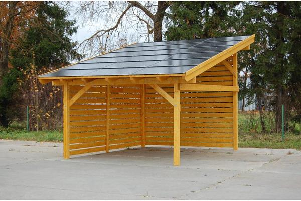 carport solar holz in anr chte sonstiges f r den garten. Black Bedroom Furniture Sets. Home Design Ideas