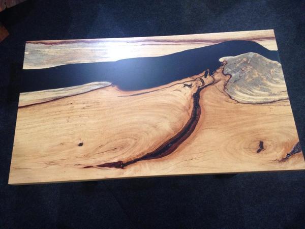 jacaranda massivholz couchtisch metall rustikales design