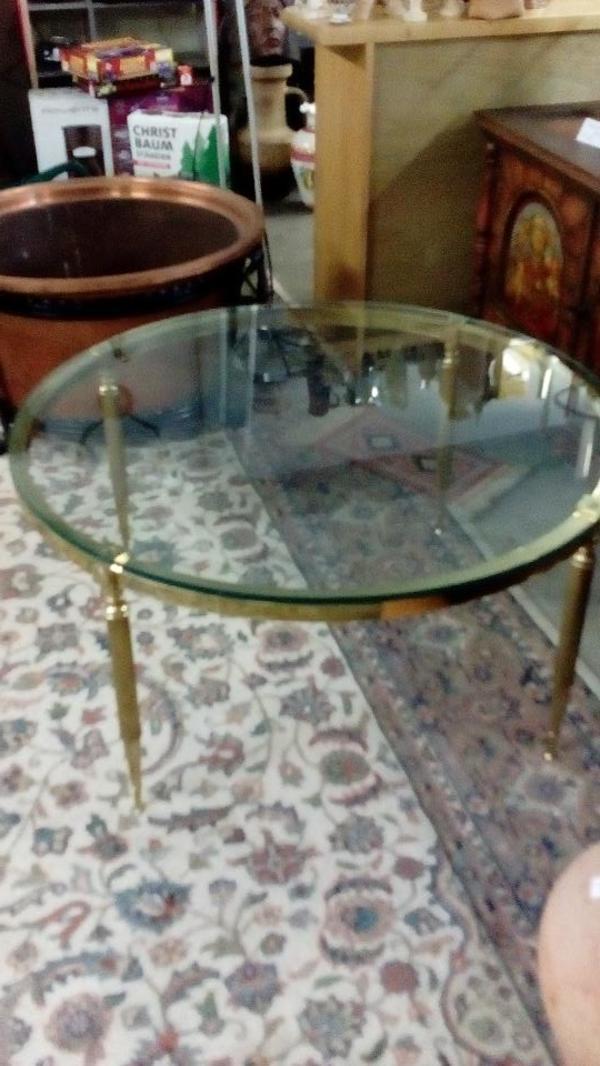 Couchtisch Glas Messing Kaufen Gebraucht Und Gunstig Rund