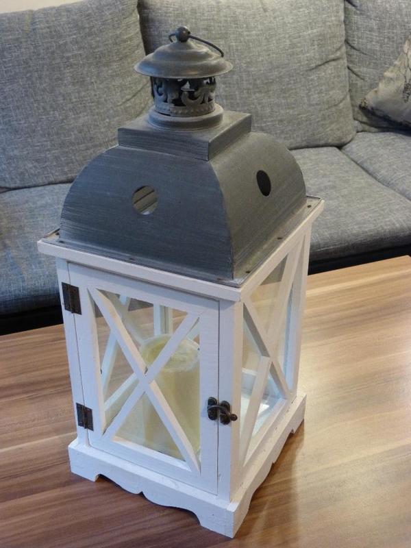 Partylite Kerzenständer Holz ~ Laternen, (Deko, Windlicht , Gartenlaterne, Metall), neuer Preis