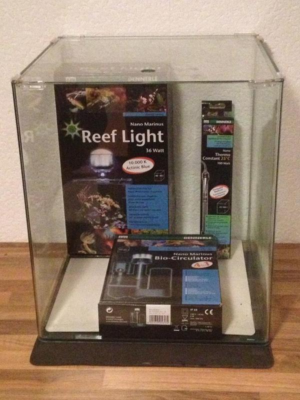 dennerle nano marinus cube 60l aquarium meerwasser in stockstadt fische aquaristik kaufen und. Black Bedroom Furniture Sets. Home Design Ideas