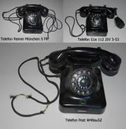 Drei alte Telefone