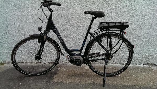 ebike carver blau metallic bosch classic motor nur 168km. Black Bedroom Furniture Sets. Home Design Ideas