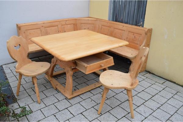 eckbank massivholz neu und gebraucht kaufen bei. Black Bedroom Furniture Sets. Home Design Ideas