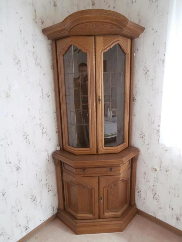 eckvitrine eiche mit glast ren in lippstadt schr nke sonstige schlafzimmerm bel kaufen und. Black Bedroom Furniture Sets. Home Design Ideas
