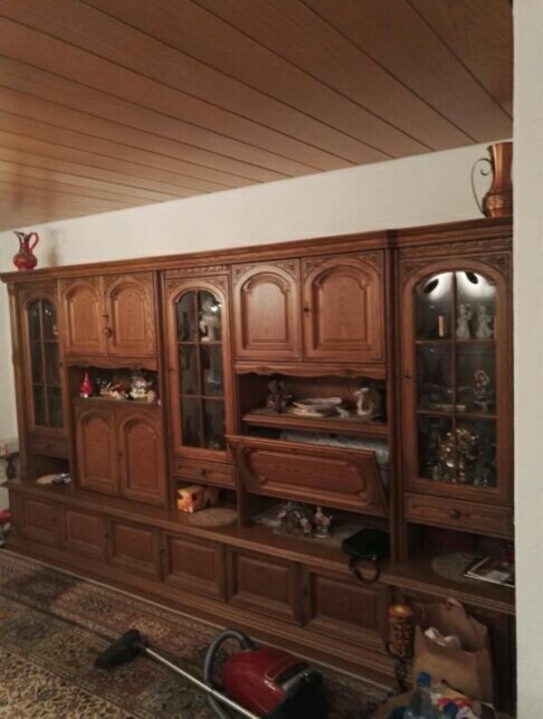 anbauwand eiche rustikal gebraucht kaufen nur 3 st bis 70 g nstiger. Black Bedroom Furniture Sets. Home Design Ideas