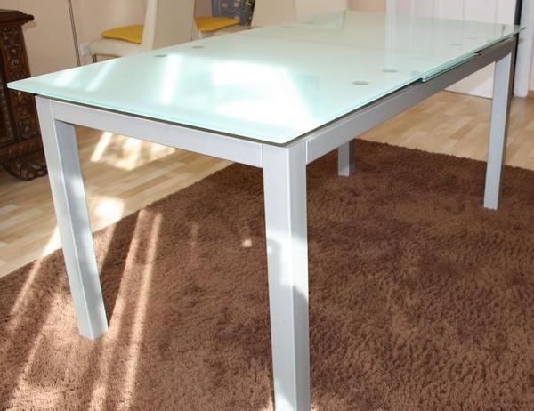 esstisch milchglas neu und gebraucht kaufen bei. Black Bedroom Furniture Sets. Home Design Ideas