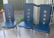 Esszimmerstühle, Metallrahmen, modern,