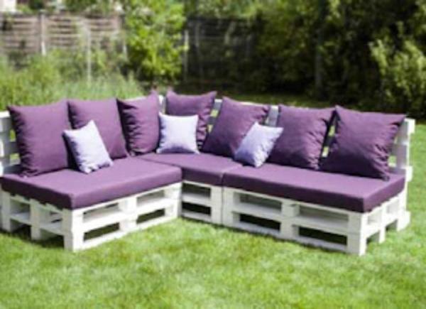 garten lounge aus paletten bauen – motelindio, Garten ideen