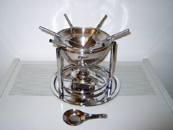 fondue set edelstahl kaufen gebraucht und g nstig. Black Bedroom Furniture Sets. Home Design Ideas