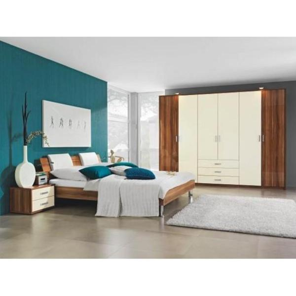 gro er sch ner kleiderschrank neuwertig nussbaum creme in karlstadt schr nke sonstige. Black Bedroom Furniture Sets. Home Design Ideas