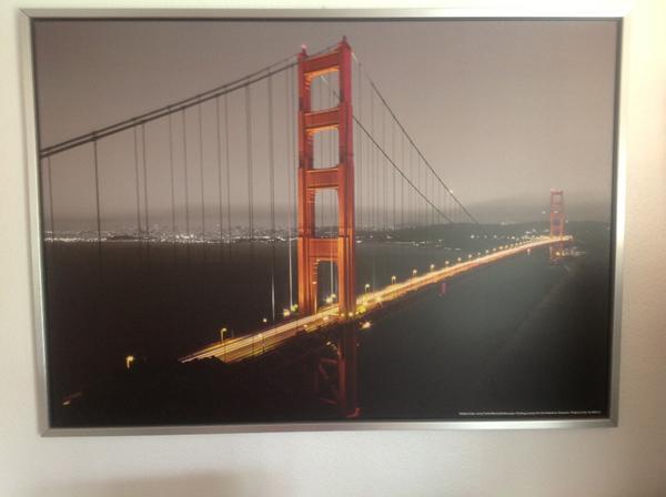 gro es ikea bild usa golden gate br cke larry fisher 142 x. Black Bedroom Furniture Sets. Home Design Ideas