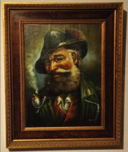 Großes Ölbild Großvater
