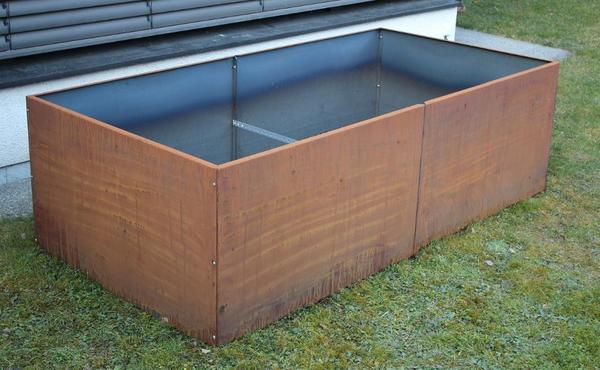 hochbeet 200 x 100 cm rost edelrost corten stahl 2mm cor. Black Bedroom Furniture Sets. Home Design Ideas