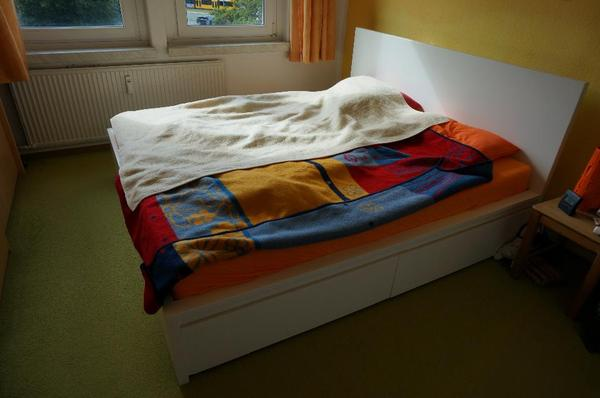 hochwertiges doppel bett mit lattenrost und matratzen 180x200 in dresden betten kaufen und. Black Bedroom Furniture Sets. Home Design Ideas