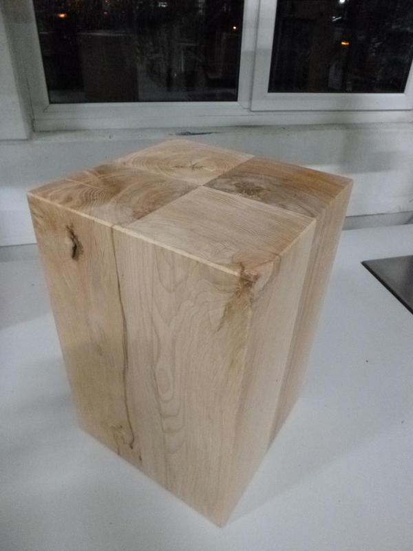 kleinanzeigen holzblock holzw rfel holzklotz hocker tisch ablage kubus massiv buche holz bild. Black Bedroom Furniture Sets. Home Design Ideas