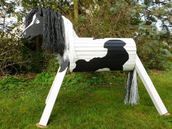 holzpferd holzpony voltigierpferd spielpferd pferd pony tinker 100 cm wetterfest lasiert neu in. Black Bedroom Furniture Sets. Home Design Ideas