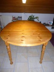 Holztisch oval oder