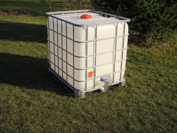 ibc container 1000l wassertank in merkendorf sonstiges f r den garten balkon terrasse kaufen. Black Bedroom Furniture Sets. Home Design Ideas