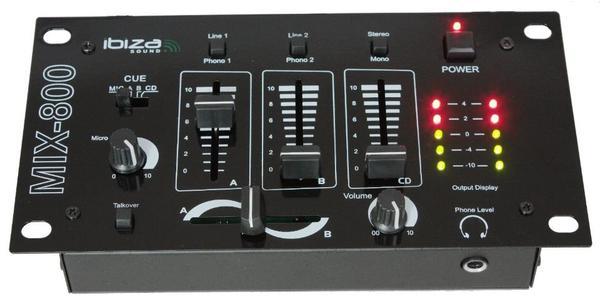 Ibiza mix 800 dj disco equipment - Table de mixage ibiza mix 800 ...