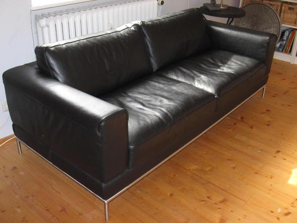 ikea arild ledersofa 3 sitzer schwarz in penzberg ikea. Black Bedroom Furniture Sets. Home Design Ideas