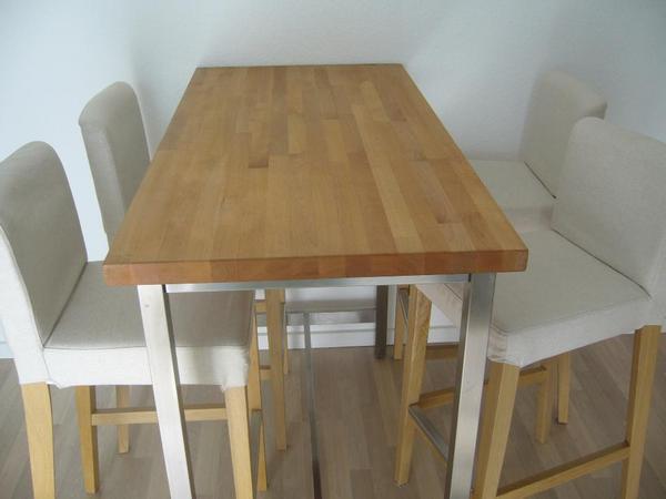 Ikea bartisch und vier barhocker abzugeben auch einzeln for Barhocker quoka