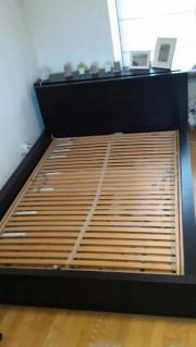 bettgestell aus ge ltem holz incl lattenrost 140x200 in karlsruhe betten kaufen und. Black Bedroom Furniture Sets. Home Design Ideas
