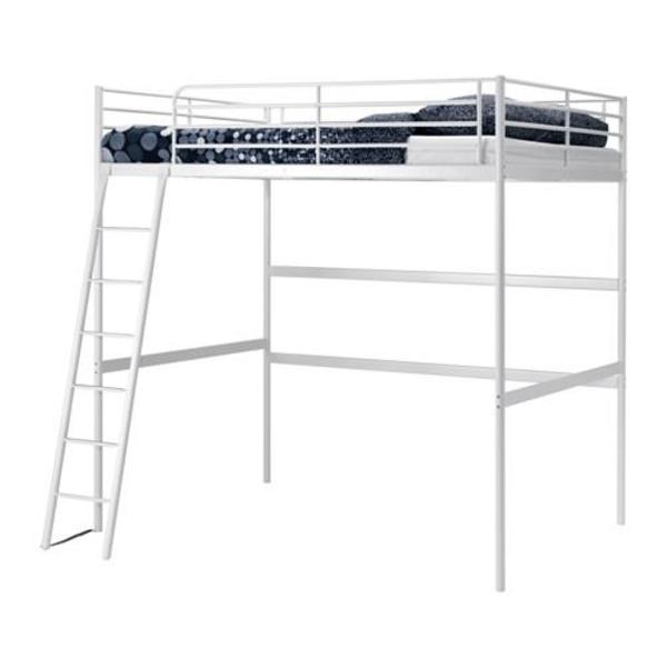 Ikea Esstisch Holz Ausziehbar ~ Hochbett Metall 90 x 200 cm jeweils 1 x in weiß, 1 x in silber, guter