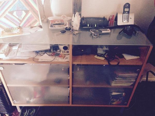 ikea kommode milchglas buchefurnier in ludwigshafen ikea m bel kaufen und verkaufen ber. Black Bedroom Furniture Sets. Home Design Ideas