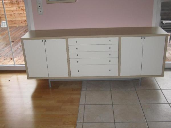 ikea magiker wohnzimmer m bel sideboard wandregal beige. Black Bedroom Furniture Sets. Home Design Ideas