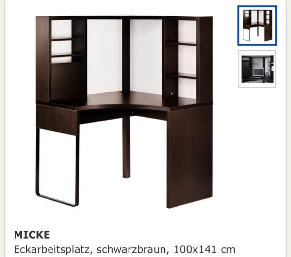 ikea schreibtisch eckarbeitsplatz micke in husum ikea m bel kaufen und verkaufen ber private. Black Bedroom Furniture Sets. Home Design Ideas