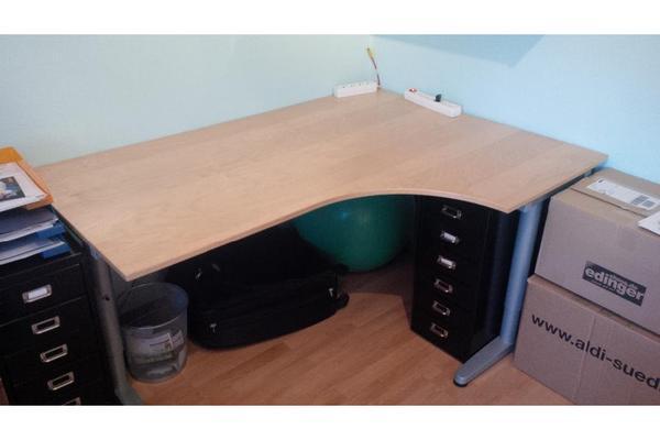 Ikea rollcontainer galant buche 2017 08 10 13 43 26 for Buche schreibtischplatte