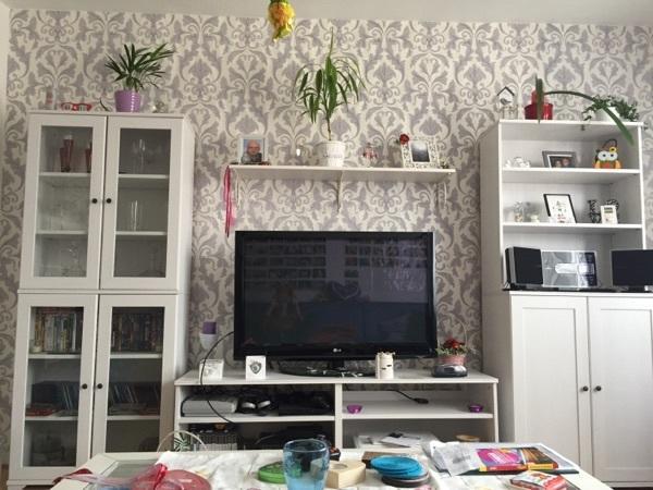 IKEA Wohnzimmer, Vitrine, Schrank, Sideboard, Regal, weiß in ...